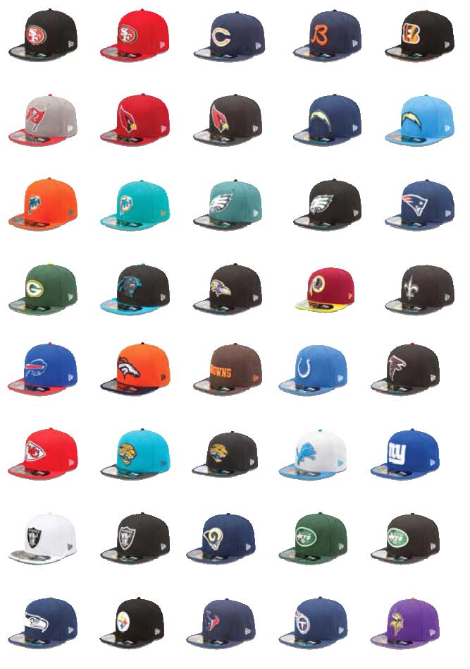 NFL Caps-teams